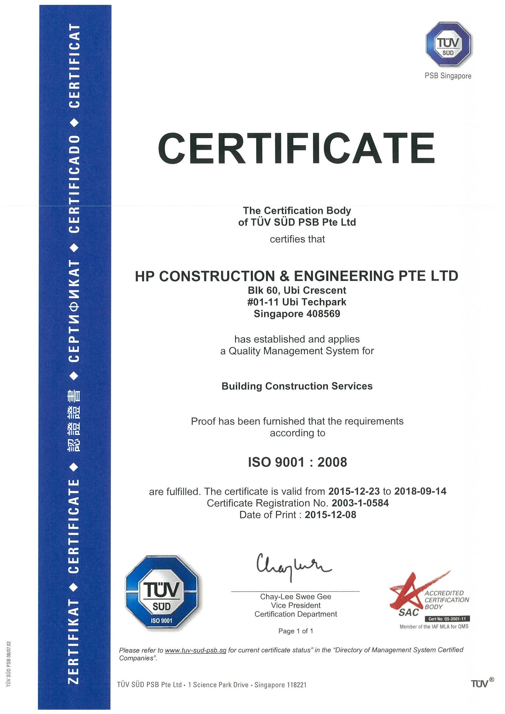 Achievements Hp Construction