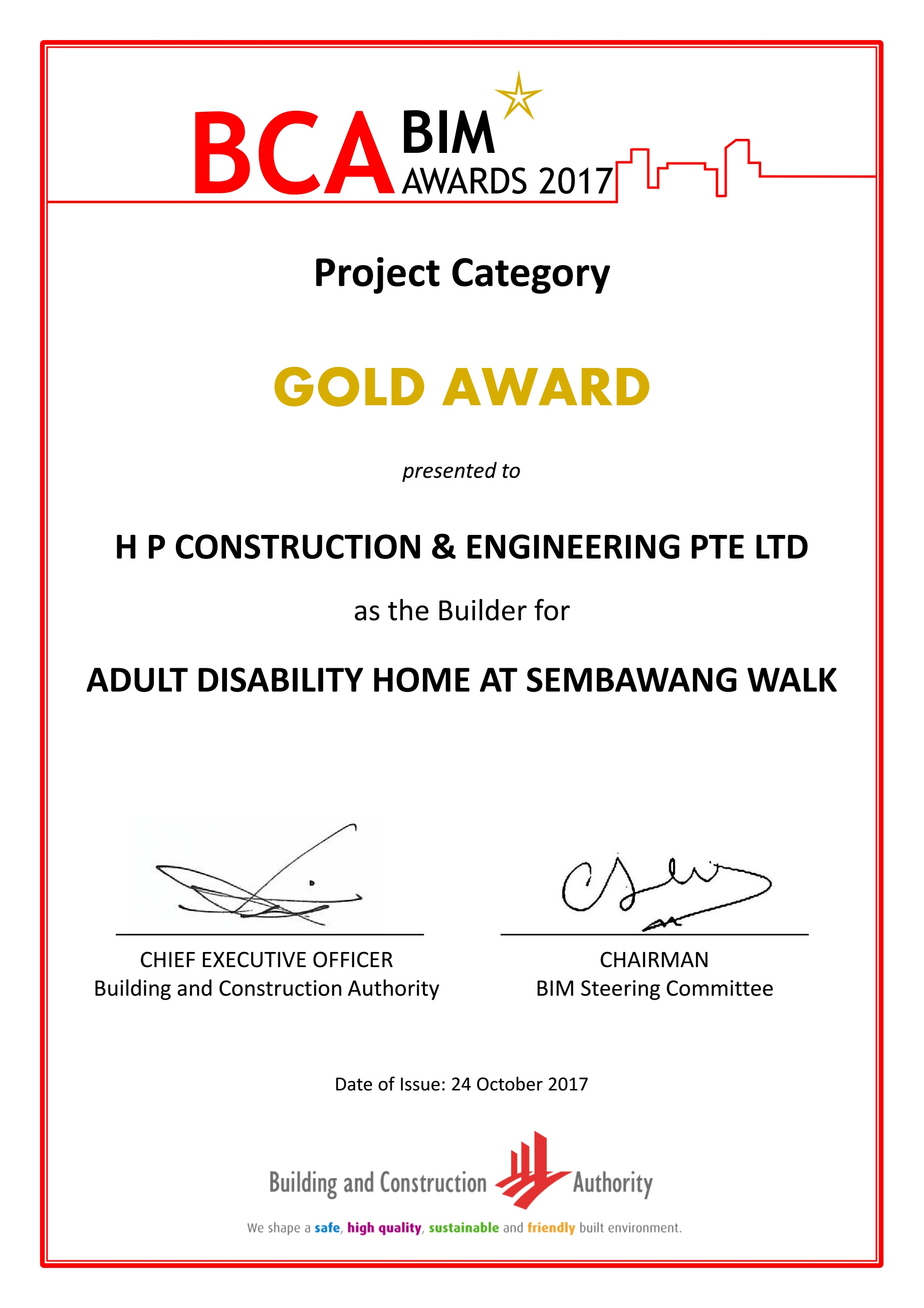 Achievements Hp Construction