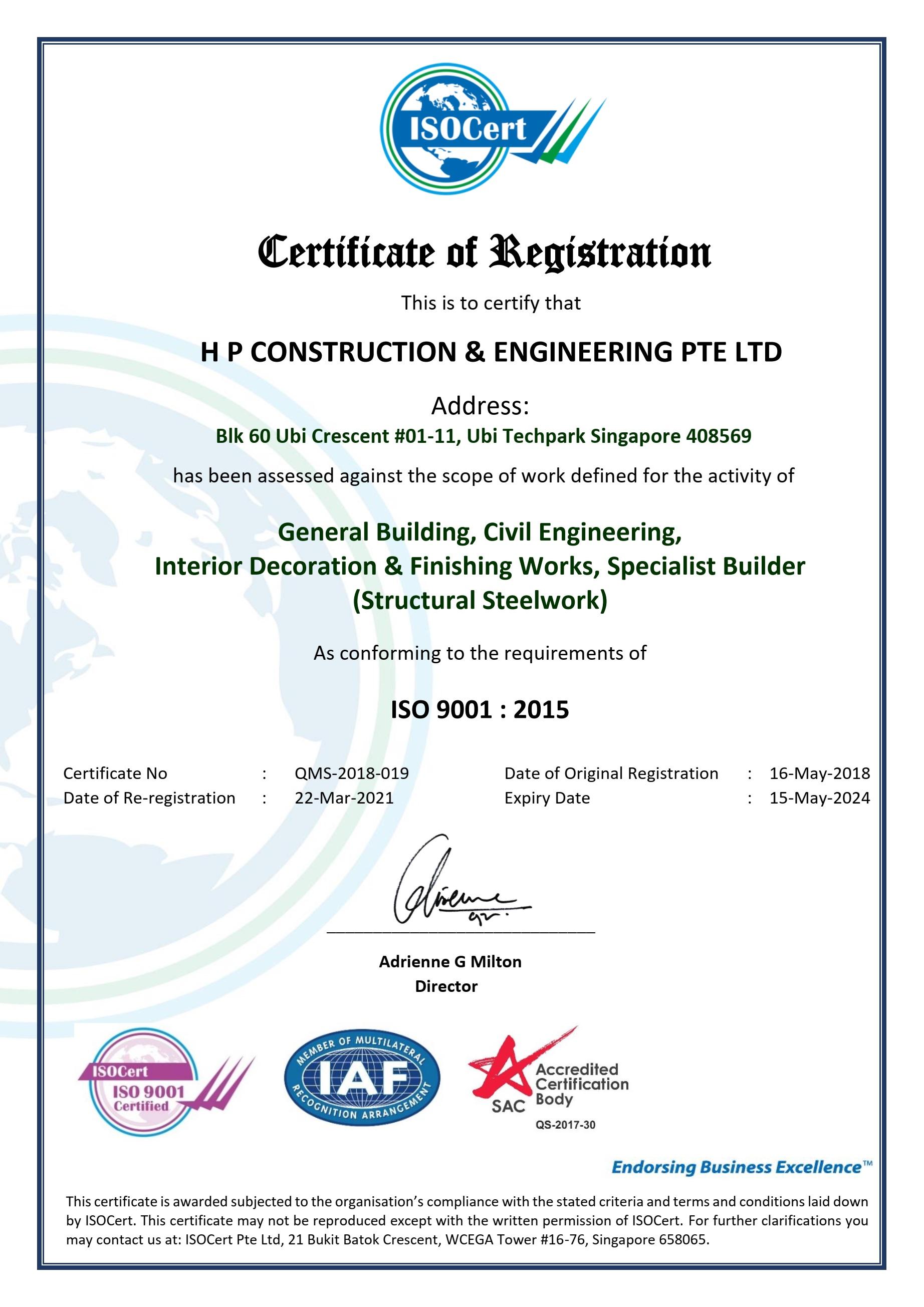 ISO 9001 Certificate v3